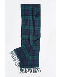 Urban Outfitters - Green Tartan Scarf for Men - Lyst