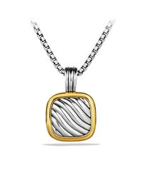 David Yurman | Metallic Sculpted Cable Locket With Gold | Lyst