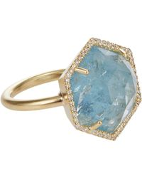 Irene Neuwirth - Metallic Gemstone Hexagonal Ring - Lyst