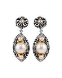 Konstantino - White Mabe Pearl Drop Earrings - Lyst
