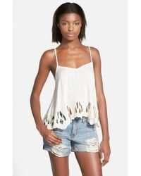Volcom | White 'cut And Run' Camisole | Lyst