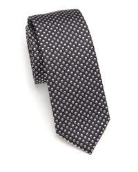 BOSS - Black Comma-pattern Silk Tie for Men - Lyst