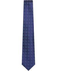 Charvet - Blue Large Diamond Pattern Silk Tie for Men - Lyst