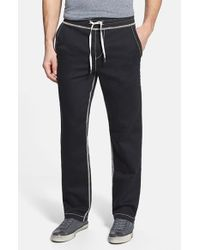 True Religion | Black 'big T' Wide Leg Sweatpants for Men | Lyst