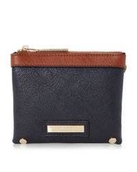 Dune - Blue Klarisa Double Pouch Purse - Lyst