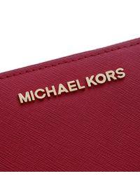 MICHAEL Michael Kors | Red Jet Set Continental Purse | Lyst