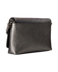 COACH | Gray Metallic Pebble Leather Crosstown Crossbody | Lyst