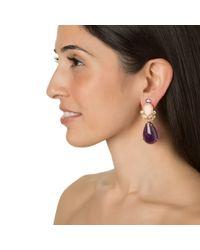 Bounkit | Purple Amethyst, Rose Quartz, And Clear Quartz Earrings | Lyst