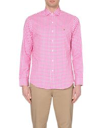 Ralph Lauren | Pink Gingham Regular-fit Shirt, Men's, Size: Xl, 248a Fuschia/wh for Men | Lyst