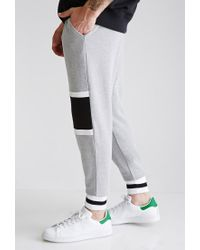 Forever 21 - Gray Striped Colorblock Sweatpants for Men - Lyst