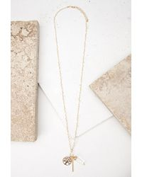 Forever 21 - Metallic String-wrapped Pendant Necklace - Lyst