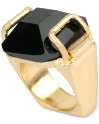 Kenneth Cole | Metallic Gold-tone Faceted Stone Ring | Lyst