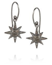 Iam By Ileana Makri | Metallic Oxidized Silver Diamond Earrings | Lyst