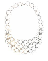 Melissa Joy Manning - Metallic Gold Mixed Metal Mini Collar Necklace - Lyst