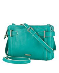 Lauren by Ralph Lauren - Green Gladstone Leather Crossbody Bag - Lyst