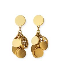 Tory Burch - Metallic Logo Charm Drop Earrings - Lyst