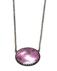 Larkspur & Hawk - Purple Large Lily Solitaire Necklace - Lyst
