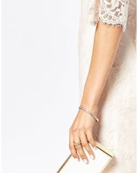 Ted Baker - Pink Narrow Crystal Band Bangle - Lyst