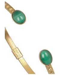Ela Stone - Metallic + Simone Gold-Plated Malachite Cuff - Lyst