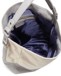 Neiman Marcus - Natural Faux-Leather Colorblock Hobo Bag - Lyst