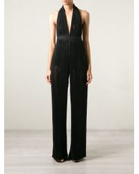 Balmain - Black Draped Jumpsuit - Lyst