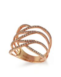 Effy - Pink Pave Rose 14k Rose Gold Diamond Ring - Lyst