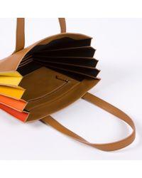 Paul Smith - Multicolor Women's Tan 'concertina' Tote Bag - Lyst