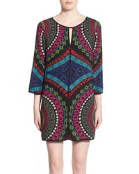 Ella Moss - Multicolor 'aurora' Print Shift Dress - Lyst