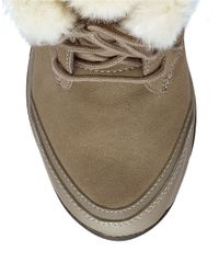 Easy Spirit | Brown Erle Faux Fur-trimmed Boots | Lyst