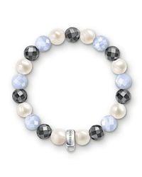 Thomas Sabo | Multicolor Charm Club Baby Blue Chalcedony Bracelet | Lyst