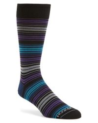 Hook + Albert | Blue Colorblock Stripe Socks for Men | Lyst