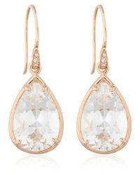 Dinny Hall - Pink Rose Gold Rock Crystal Imy Anniversary Earrings - Lyst