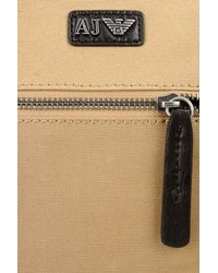 Armani Jeans - Natural Flat Messenger Bag In Waxed Canvas for Men - Lyst