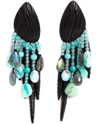 Monies | Blue Chandelier Clip On Earrings | Lyst