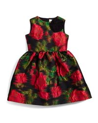 Lanvin - Multicolor Prince De Galles Floral A-line Dress - Lyst