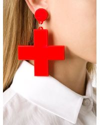 Yazbukey | Red Cross Clip-on Earrings | Lyst
