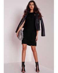 Missguided - Tall Crepe A Line Shift Dress Black - Lyst