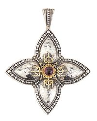 Konstantino | Metallic Rhodolite Garnet Cabochon Cross Enhancer | Lyst