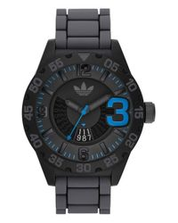 Adidas Originals - Black 'newburgh' Silicone Strap Watch for Men - Lyst