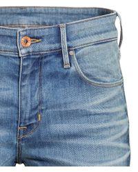 H&M - Blue Skinny Regular Jeans - Lyst