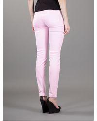 J Brand - Purple Skinny Jeans - Lyst