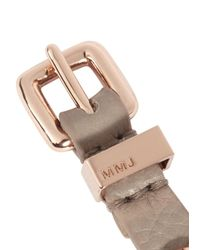 Marc By Marc Jacobs | Gray Taupe Screw Embellished Leather Bracelet | Lyst