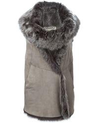 Herno - Brown Sleeveless Lamb-Fur Vest  - Lyst