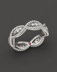 Roberto Coin - 18k White Gold New Barocco Diamond Ring - Lyst