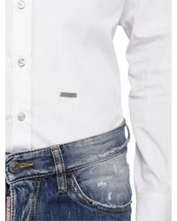 DSquared² | White Cotton Poplin Shirt for Men | Lyst