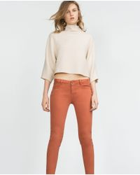 Zara | Red Skinny Trousers | Lyst
