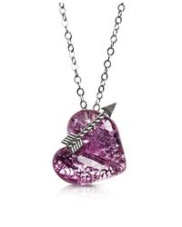 Antica Murrina | Purple Elizabeth 3 Murano Glass Necklace W/Heart Pendant | Lyst