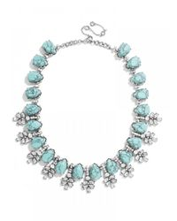 BaubleBar - Green Crystal Wreath Collar-Turquoise/Antique Silver - Lyst