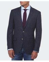 BOSS - Blue Hutsons Fleck Wool Jacket for Men - Lyst
