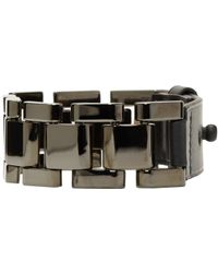 Lanvin - Metallic Pewter Oyster Link Bracelet for Men - Lyst